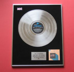 SHADOWS - Dance With THE SHADOWS PLATINUM LP presentation Disc